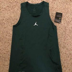 Air Jordan Dri Fit Tank (Green) Size S